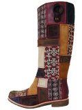【SALE】【送料無料】TIMBERLAND(LADY'S) STATEMENT TALL BOOT ブラウン×レッド