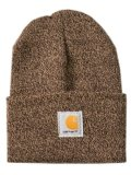 CARHARTT ACRYLIC WATCH HAT-DARK BROWN/SANDSTONE