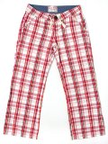【MEGA SALE】【LADY'S】LEFT FIELD CHECK PANTS