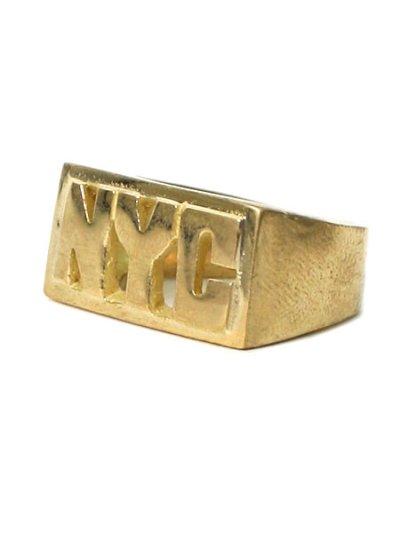 画像2: 【SALE】GROUNDSCORE NYC NYC RING-GOLD