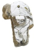 MAD BOMBER REALTREE AP SNOW CANVAS BOMBER/BRN R.FUR