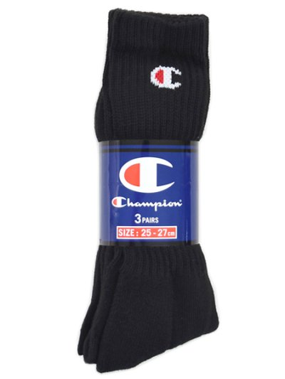 画像1: CHAMPION FULL LENGTH SOCKS 3P HALF PILE