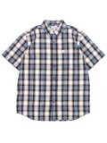 CARHARTT ESSENTIAL PLAID BD S/S SHIRT-STEEL BLUE