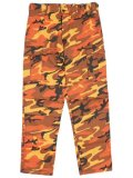 ROTHCO BDU PC CAMO PANTS-SAVAGE ORANGE