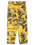 ROTHCO BDU PC CAMO PANTS-STINGER YELLOW