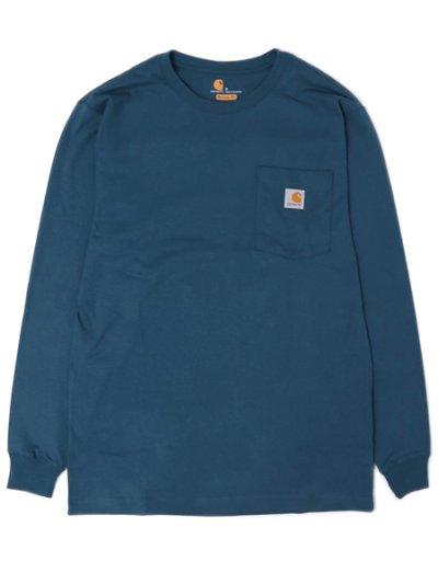 画像1: CARHARTT L/S WORKWEAR POCKET TEE-STREAM BLUE