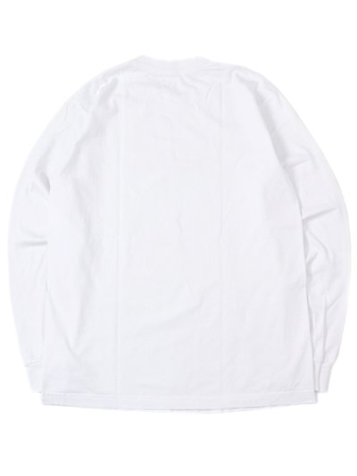 画像2: LOS ANGELES APPAREL 6.5oz GARMENT DYED CREW L/S TEE-WHITE