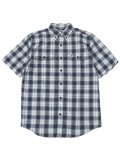 CARHARTT ORIGINAL.F MW SS PLAID SHIRT-BLUESTONE