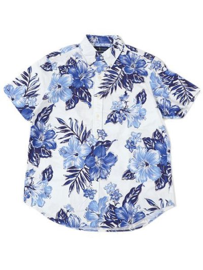 画像1: 【送料無料】POLO RALPH LAUREN CLASSIC FIT HIBISCUS OXFORD BD SHIRT