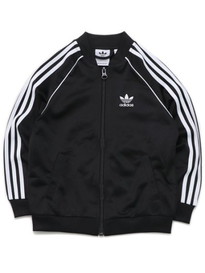 画像2: 【KIDS】ADIDAS KIDS 3 STRIPES TRACK SUIT-BLACK/WHITE