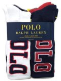 POLO RALPH LAUREN BIG POLO VARSITY CREW 6-PACK SOCKS