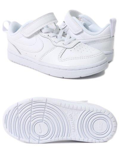 画像2: 【KIDS】NIKE COURT BOROUGH LOW 2 PSV WHITE/WHITE