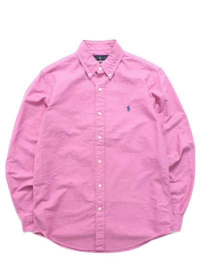 画像1: 【送料無料】POLO RALPH LAUREN CLASSIC FIT OXFORD BD SHIRT RESORT ROSE