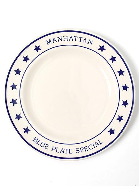 fishs eddy manhattan blu plate special dinner plate fivestar
